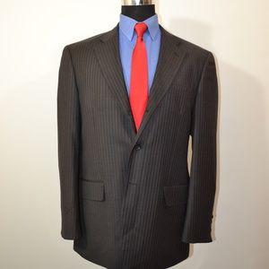 Mantoni 42R Sport Coat Blazer Suit Jacket Dark Gra